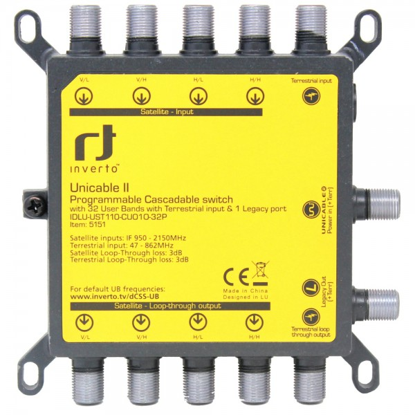 Inverto Unicable2 32-fach Quattro Multischalter IDLU-UST110-CUO1O-32P