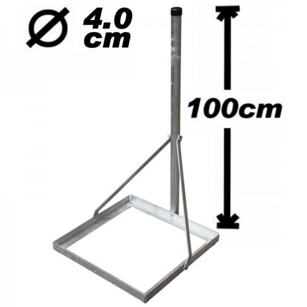 Standfuß, 100cm, 40mm, leicht