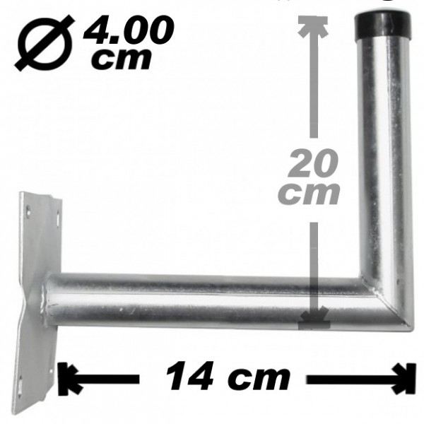Wand-/Antennenhalter, 14cm, 40mm, Stahl