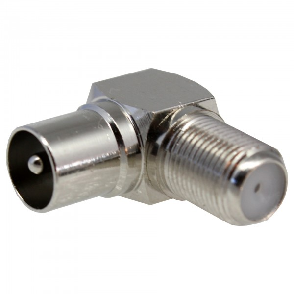 Winkelkupplungsstecker F-St zu IEC-Kupp