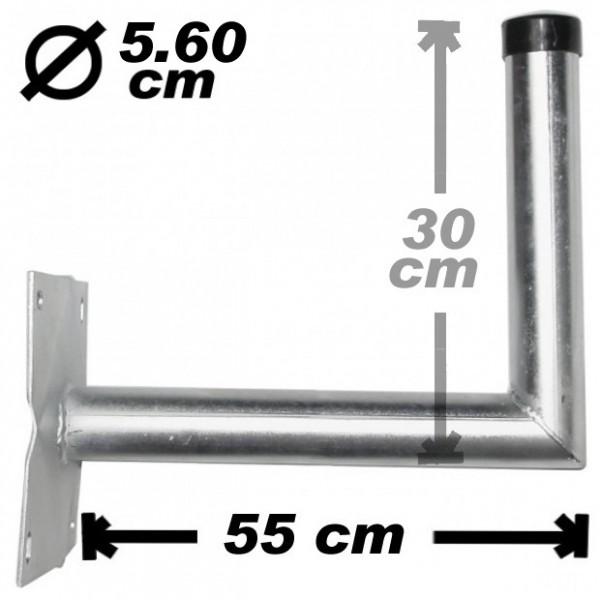 Wand-/Antennenhalter, 55cm, 56mm, Stahl, 300
