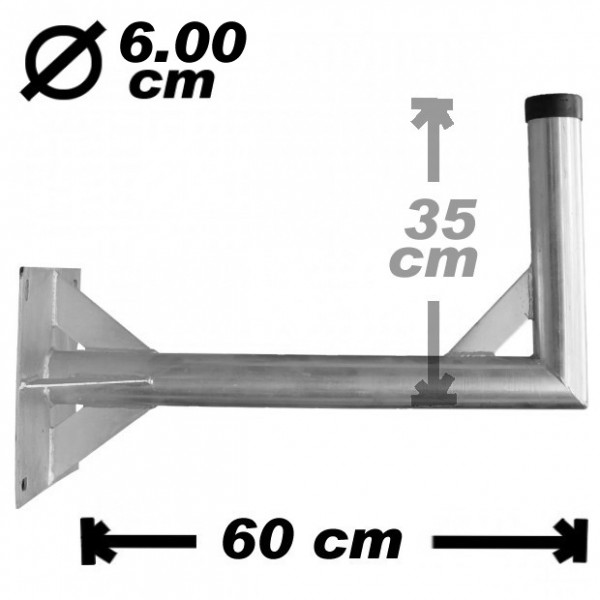 Wand-/Antennenhalter, 60cm, 60mm, Stahl, 350