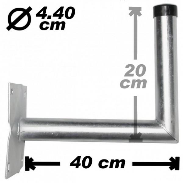 Wand-/Antennenhalter, 40cm, 44mm, Stahl