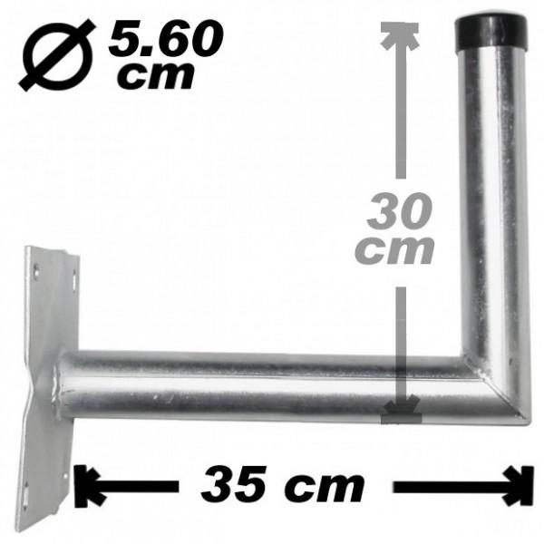 Wand-/Antennenhalter, 35cm, 56mm, Stahl
