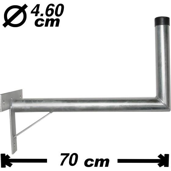 Wand-/Antennenhalter, 70cm, 46mm, 30cm hoch, Stahl