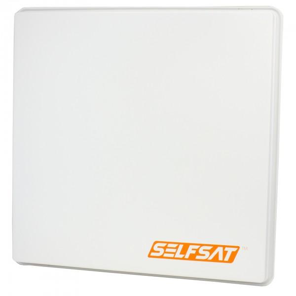 0,52m, SelfSat H50D2 Planar, lichtgrau, Twin LNB