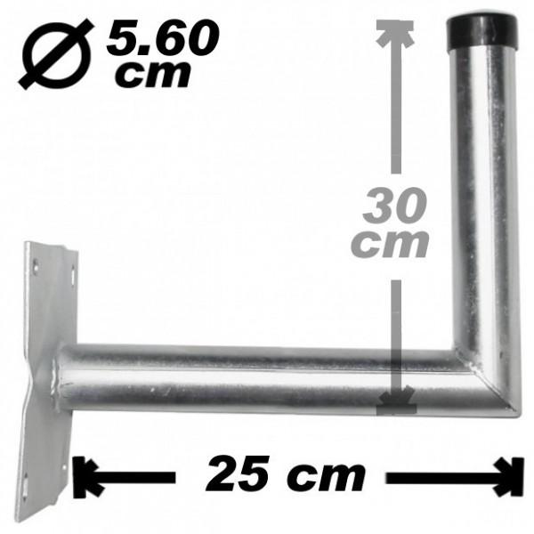 Wand-/Antennenhalter, 25cm, 56mm, Stahl, 300