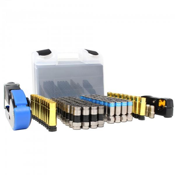 Triax Koax Leih Kompressionsstecker Installations Koffer