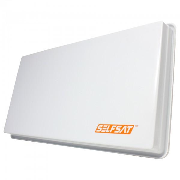 0,47m, SelfSat H30D2+ Planar, lichtgrau, Twin, Max