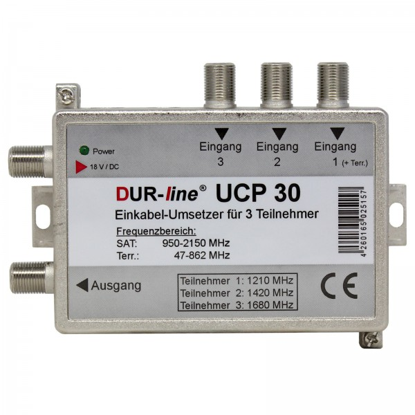 Durasat DurLine UCP 3 SCR- Unicable Umsetzer Router