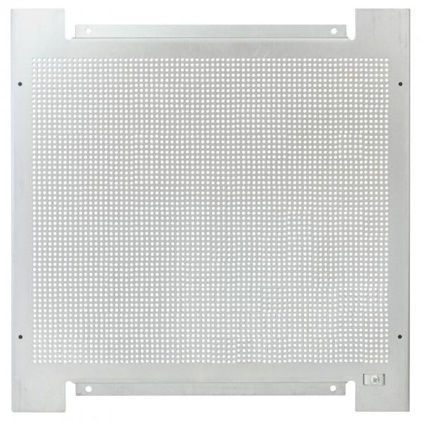Montageplatte 60x40, Lochraster, Metall