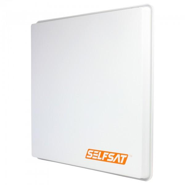 0,52m, SelfSat H50D1 Planar, lichtgrau, LNB